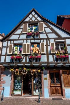 Kaysersberg is one of the prettiest towns in Alsace, France, but they don't take themselves too seriously