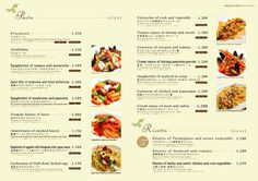 「レストラン メニュー デザイン」の画像検索結果