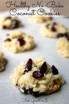 vegan no-bake coconut cookies