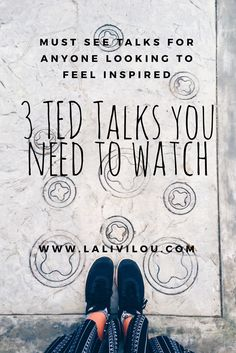 Must see TED talks for anyone wanting to feel inspired! The best TED talks on offer ✨