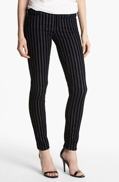 Paige Denim Flocked Skinny Jeans (Flocked Stripe) available at #Nordstrom