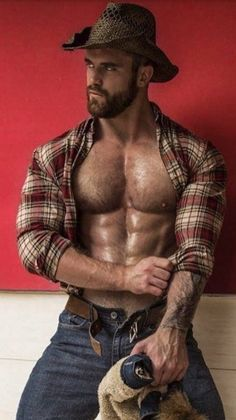 Guys I think are hot Hairy Hunks, Hairy Men, Bearded Men, Hot Country Boys, Country Style, Scruffy Men, Handsome Man, Cowboys Men, Hommes Sexy