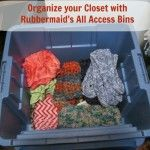 Organize Your Closet with Rubbermaid All Access Bins