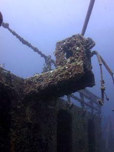 The USS Spiegel Grove shipwreck, buoy 6, midship