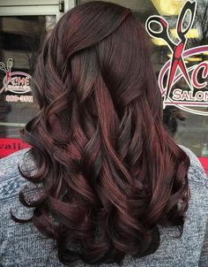 60 Chocolate Brown Hair Color Ideas for Brunettes | Red highlights ...