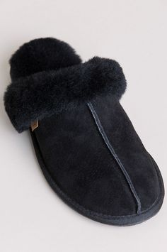 Women's Classic Australian Merino Shearling-Lined Scuff Slippers Wool Shoes, Plush, Slippers, Slip On, Classic, Fashion, Sewing Stitches, Slipper, Footwear