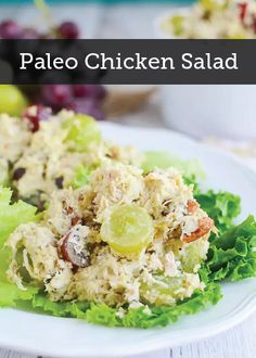 Paleo Chicken Salad – delicious chicken salad recipe with grapes, pecans, and paleo mayo! Paleo Chicken Salad – delicious chicken salad recipe with grapes, pecans, and paleo mayo! Grape Recipes, Real Food Recipes, Cooking Recipes, Healthy Recipes, Pecan Recipes, Paleo Chicken Salad, Chicken Recipes, Clean Eating Recipes, Lunch Recipes