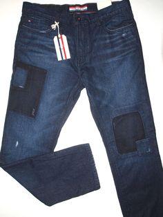 Tommy Hilfiger classic straight leg men's jeans size 36x34 patch design new #TommyHilfiger #ClassicStraightLeg