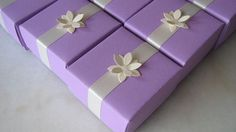 handfolded origami wedding favor box