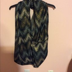 Infinity Scarf NWOT Never worn. NWOT. Black infinity  scarf with gold and silver chevron print. Super soft. BP Nordstrom Accessories Scarves & Wraps