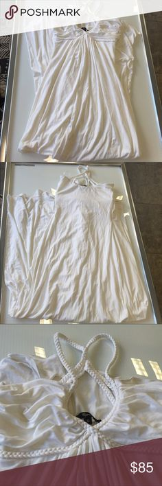 Sky white braided maxi summer dress size small new Sky white braided maxi summer dress size small new without tags ..has been handled And  tried on In Store bottom hem might be a little dusty Sky Dresses Maxi