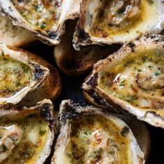 You can never eat just one! roasted oysters garlic + parsley butter  Eat Ditch