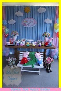 BELAS FESTAS ELEGANCE: Peppa Pig para o segundo aninho da Luiza