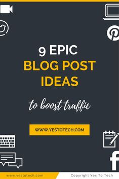 9 Epic Blog Post Ideas To Boost Traffic. If you want to truly transform your traffic, you need to blog with strategy in mind. Here are 9 examples of epic, evergreen blog post ideas that you can create! blogging for beginners   blogging   blogging for money   blogging ideas   blogging tips   Successful Blogging  Blogging For Beginners   Blogging Strategist   Blogging For Money   Beginning B   Next Level Blogging - New Blogger Coach   Social Media Marketing   Chantel Arnett...