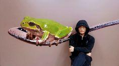 Work in progress^^ #김영성#YoungsungKim#극사실#Hyperrealism#realistic#painting#drawing#artist#artwork#개구리#달팽이#물고기#곤충#동물#환경#environment#frog#snail#fish#insect#animal#glass#spoon#jar#gear#sculpture