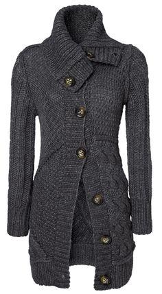 Patterned knit coat by Set