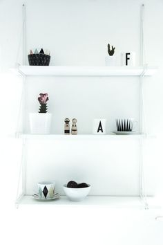 minimalist decor on an ikea ekby gallo shelf Home Living Room, Shelves, Interior, Ikea Ekby, Ikea, Ikea I, House Interior, Home Decor Signs, Home And Living