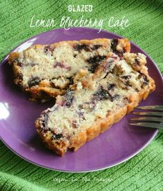 Glazed Lemon Blueberry Cake is a perfect dessert after your  family meal.  Refreshing in the summertime too!