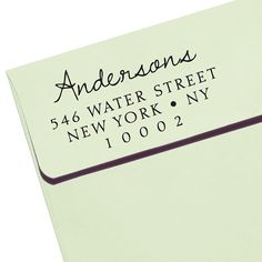 CUSTOM ADDRESS STAMP new Eco Friendly  self by savethedate