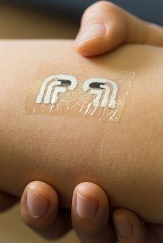 Um controlo indolor para a diabetes - High-Tech Girl    Diabetes. Uma tatuagem temporária para controlar os índices de glicose