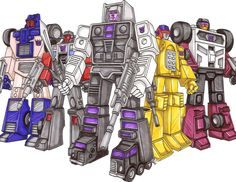 Stunticons: Combine to form Menasor. Breakdown; Wildrider; Drag Strip; Dead End; Motormaster. This photo was uploaded by TransformersArkColor
