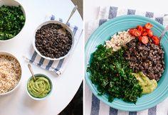 Kale and black bean burrito bowl