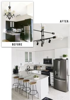 Before + After Kitchen Reveal http://www.stephaniesterjovski.com/our-kitchen-reveal/