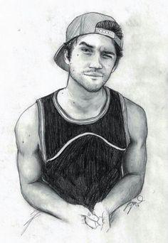 Tyler Posey by compoundbreadd on DeviantArt - Tyler Posey by compoundbreadd - Pencil Sketch Drawing, Girl Drawing Sketches, Man Sketch, Guy Drawing, Pencil Art Drawings, Realistic Drawings, Colorful Drawings, Drawing People, Cartoon Drawings