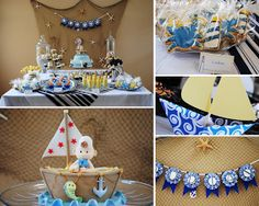 Nautical Themed Baby Christening and Shower