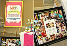 MOPS ministry fair ideas, love the MOPS sign on the easel