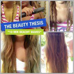 10 Minute Hairstyles: Beachy Waves Tutorial