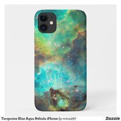 Turquoise Blue Aqua Nebula iPhone Case-Mate iPhone Case
