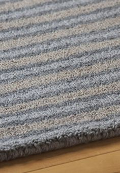 Highland Stripe Eco Cotton Loom-Hooked Rug  | Plush, hand-woven, made from recycled eco cotton, using no latex, chemicals or dyes. #freeshipping hookandloom.com