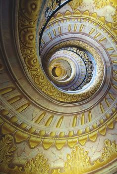 Spiral stairs, Vienna by jye_99 on Flickr.