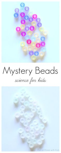 A Science Mystery for Kids: Color Changing Beads from Fun at Home with Kids