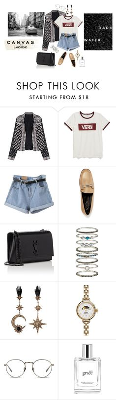 """canvas"" by rainbowcloudinosaur ❤ liked on Polyvore featuring Vans, Tod's, Yves Saint Laurent, Accessorize, Roberto Cavalli, Shinola, Linda Farrow, philosophy, Lands' End and StreetStyle"