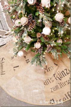 grain sack tree skirt