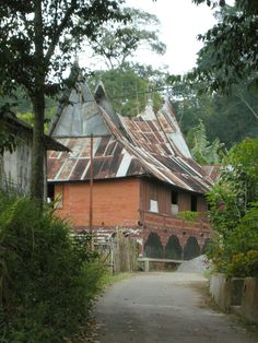 traditional house - near Bukittinggi, Sumatra, Indonesia - by selmadisini 2008