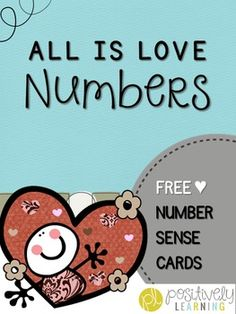 All Is Love Number Cards1-10 words 1-30 numbers