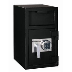 SentrySafe DH-074E Solid Steel Depository Safe, Black by SentrySafe. $331.10. From the Manufacturer                The Sentry Safe depository safe has a solid steel construction and a powder coat finish. The depository safe comes with a anti-fish hopper, anti-pry door, programmable electronic lock with time delay, relocking device and a heavy duty vault ball bearing hinge . The safe has pre-drilled anchor hole so the safe can be bolted to the ground. The bolt d...