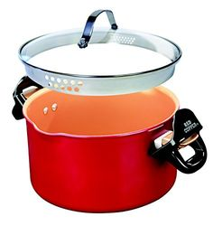 online shopping for Red Copper Better Pasta Pot BulbHead, Locking Handles Straining Lid from top store. See new offer for Red Copper Better Pasta Pot BulbHead, Locking Handles Straining Lid Cooking For A Crowd, Cooking On A Budget, Blt Macaroni Salad, Picnic Side Dishes, Pots, One Pot Wonders, Light Recipes, Holiday Gift Guide