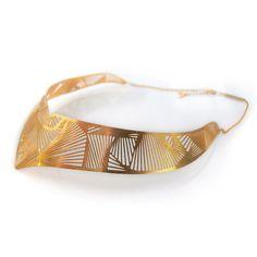 Maasai Choker Fan Gold Plate--Gorgeous