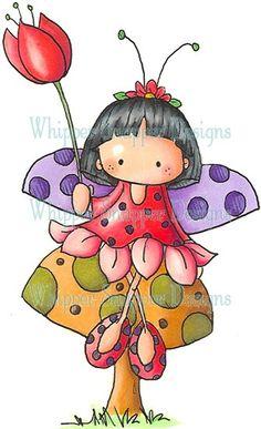 solo la pose, pintar el vestido negro y las hojas del vestido como las de la abeja. Sentarla sobre una flor. Cambiar color de las alas, fondo rojo con lunares negros. Pelo recto negro y flequillo más najo