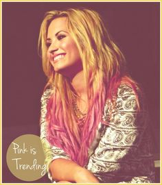 Pink Ombre Hair by Demi Lovato. Awesome ain't?