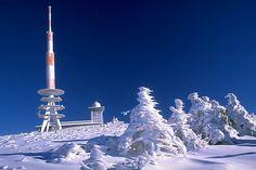 Top of mount Brocken in Winter, Harz, Germany.