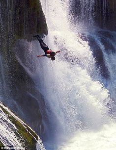 WATER-FOOLS: The adrenalin junkies who risk death by diving 80 feet headfirst into churning water at Balkan beauty spot - Crazy, daring, over the top. Parkour, Cliff Diving, Base Jumping, Skydiving, Adventure Is Out There, Beautiful World, Places To Go, Surfing, In This Moment