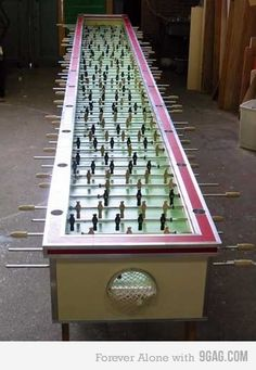 Epic Fooseball table! this is awesome!