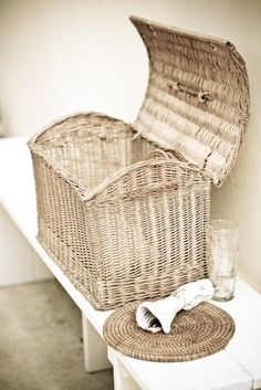 A Must-Have Picnic Item: A Wicker basket. Rattan, French Baskets, Vintage Baskets, Bountiful Baskets, Basket Bag, Hamper Basket, Storage Basket, Company Picnic, Wicker Baskets