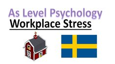 What is workplace stress? in this lesson we will look at what causes stress in the workplace and research into workplace stress in a Swedish sawmill. A Level Revision, Psychology A Level, What Causes Stress, Workplace, Education, Onderwijs, Learning