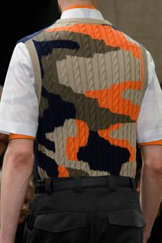 Dior Homme Spring 2016 Knitwear Fashion, Knit Fashion, Boy Fashion, Winter Fashion, High Fashion, Camo Fashion, Camouflage, Matching Outfits, Outfits For Teens